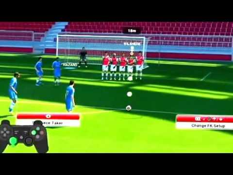 GAME TUTORIAL PES 2014 Free Kick Simple Tips