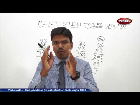 Multiplication Tables upto 1000 in vedic maths | Speed Maths | Vedic Mathematics
