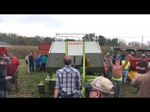 Young Farmer Bids For Claas 2100 Baler on Pennsylvania Farm Auction