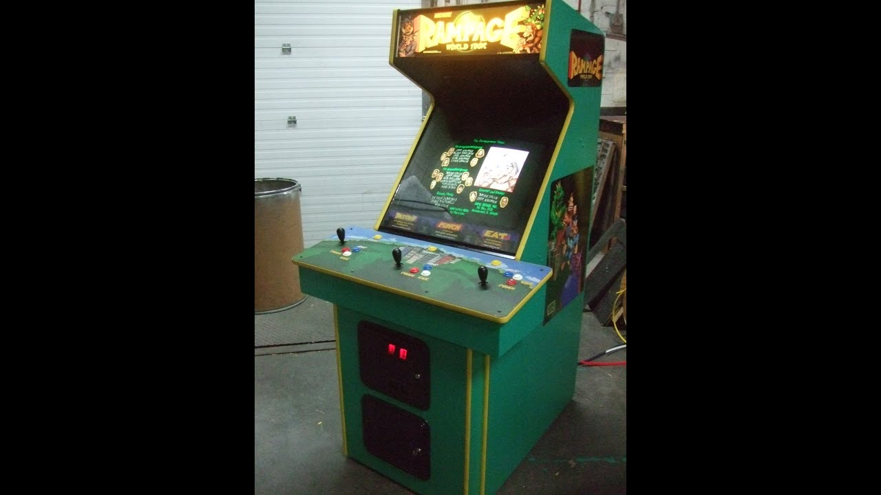 #501 Bally Midway RAMPAGE WORLD TOUR 1996 3 Player Arcade Video Game   TNT  Amusements   YouTube