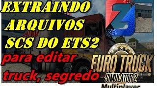 Aprenda como extrair caminhões  originais do ETS2 para EDITAR NO ZMODELER3