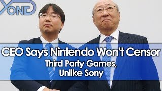 CEO Says Nintendo Won't Censor Third Party Games, Unlike Sony