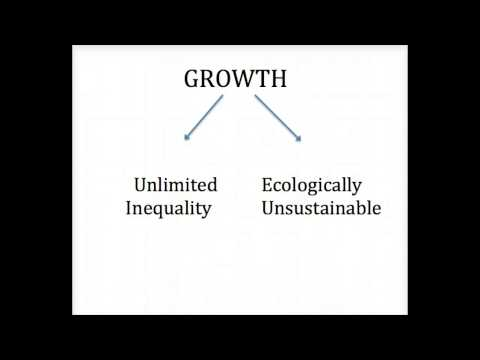 Daly, Growth, Limited Inequality