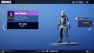 Ninja - Streamers REACT Purple Skull Trooper, Skull Ranger! Nouvelles peaux Fortnite