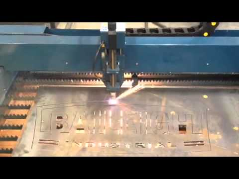 Baileigh Industrial Pt 44 Cnc Plasma Table Cutting Out The Baileigh Logo