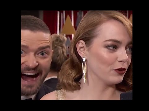 Oscars 2017: Emma Stone Photobombed by Justin Timberlake the Oscars Red Carpet | ABC News