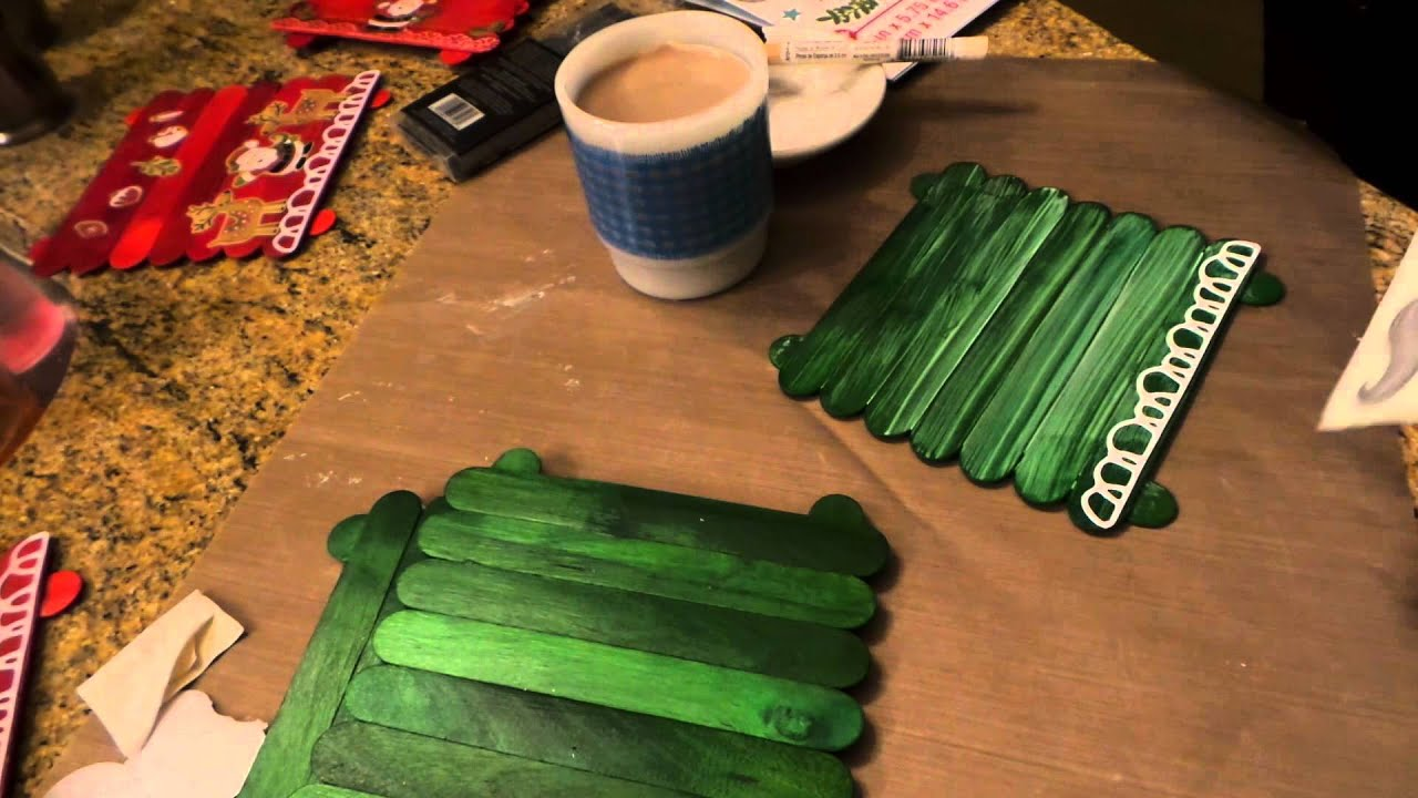 dollar tree crafts youtube dollar tree craft popsicle stick trivets amp christmas gift 10815
