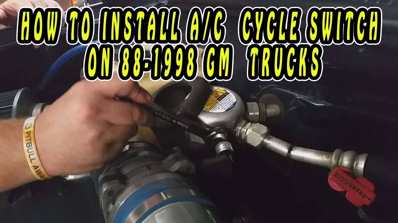 how to install a c cycle switch on 88 1998 g m trucks [ 1280 x 720 Pixel ]