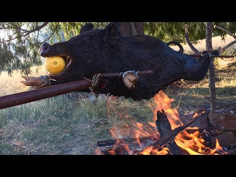 WILD BOAR Catch N Cook! DAMN LEMON Spit Roast Recipe!!!