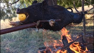 WILD BOAR Catch n Cook! DAMN LEMON Spit Roast Recipe!!! thumbnail