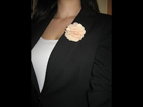C mo hacer flores de tela how to make tissue flowers youtube - Como hacer cuadros de tela ...