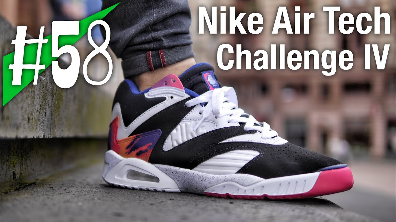 58 2016 nike air tech challenge iv ii iii review on feet andre agassi sneakerkult - Nike air tech challenge ...