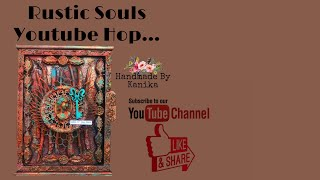 71. Rustic Theme Mixed Media Key holder DIY Tutorial | Rustic Souls Hop | Handmade By Kanika