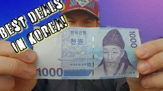 Can you believe these meals in Seoul only cost $1?! Travel Korea on a budget!
