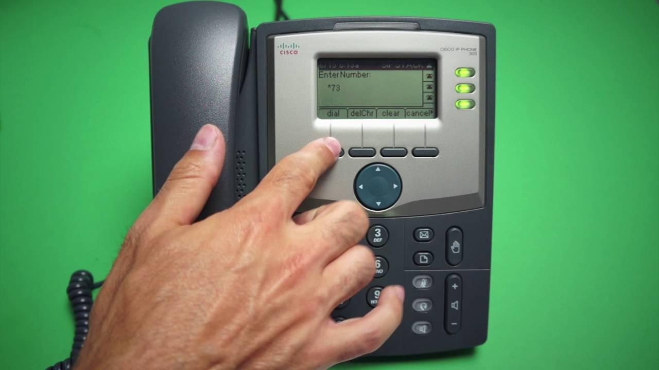 Cisco 303 - Disable Call Forwarding