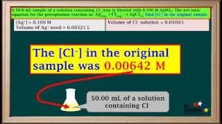 WCLN  Precipitation Titration Calculations  Chemistry