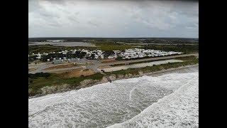 360 Hurricane Florence: North Topsail Beach North Carolina High Tide Prior To Landfall