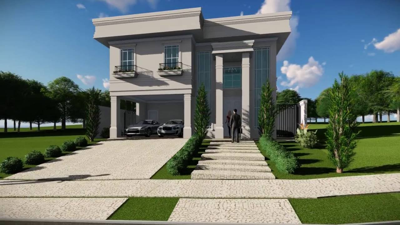 Projeto casa cl ssica estilo americano projetada pelo for Casa classica srl