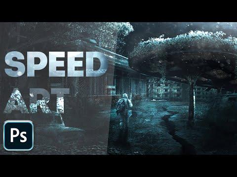 Сталкер арт в фотошопе Speed Art 4K   Stalker Art In Photoshop