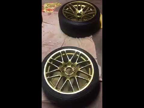 dupli color wheel coating gold spray paint ?