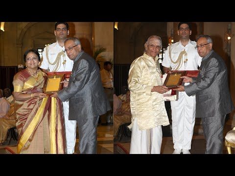 PRESIDENT PRESENTS THE SANGEET NATAK FELLOWSHIP AND AKADEMI AWARDS FOR 2011  - Part1