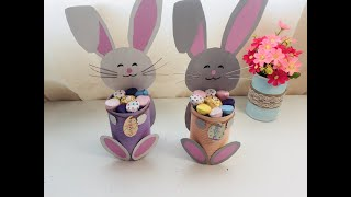 Easter treat basket  recycle tin diy  easy home craft