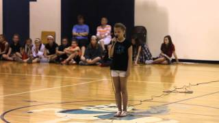 "Cora, age 10, singing ""Piece by Piece"" 2016 school talent show"