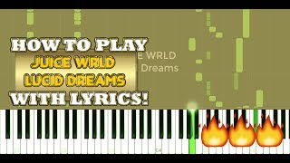 Juice Wrld - Lucid Dreams - EASY Piano Cover Tutorial - Chords Keys Lyrics Instrumental