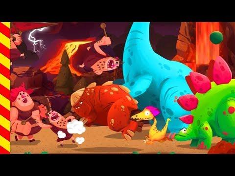 Мультик про динозавра. Первобытные люди напали на динозавра. Динозавр мультфильм для мальчиков.
