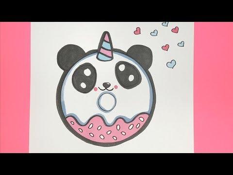 KAWAII EINHORN PANDA DONUT MALEN :)