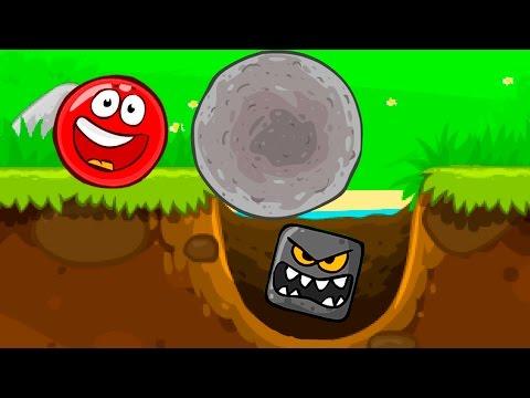 Красный Шарик - Смотреть ИГРУ как МУЛЬТИК - Red Ball - для детей малышей