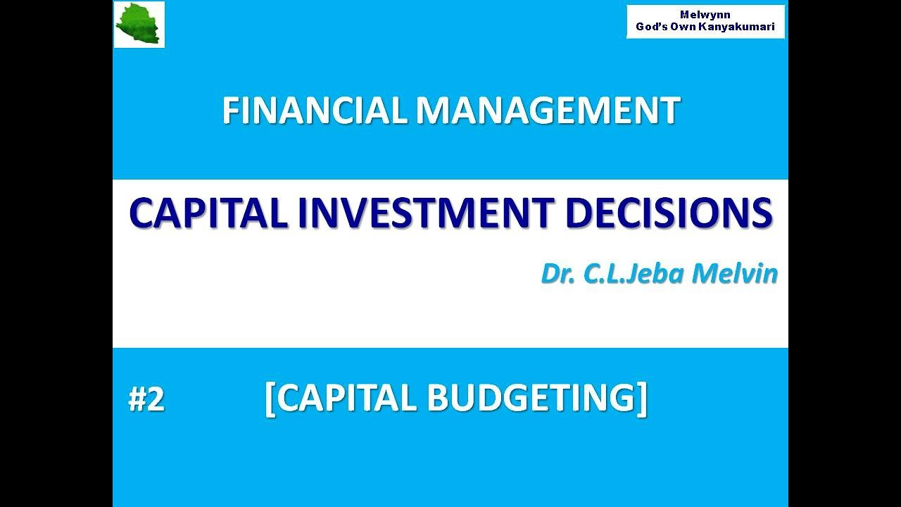 Capital investment decisions techniques salon dinuba forex
