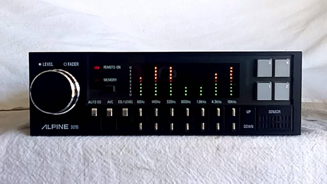 Vintage Alpine 3015 Equalizer Car Stereo W Spectrum Analyzer