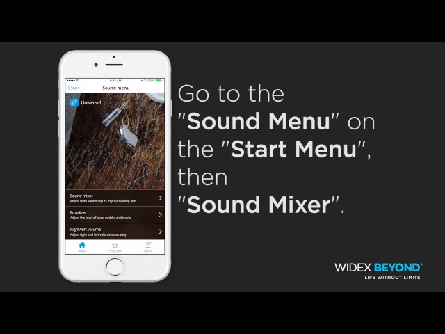Widex BEYOND™ Sound Mixer Tutorial