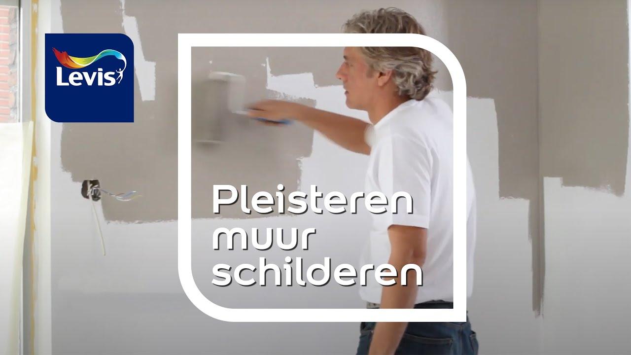 hoe een pleisteren muur schilderen levis youtube