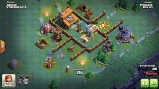 Clash of clans ' Builder Hall 3 ' (BH3) Funny honey pot.