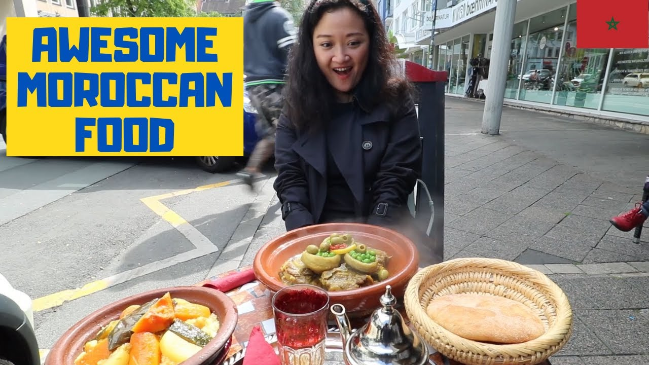 India China Couple Enjoys Moroccan Food in Germany