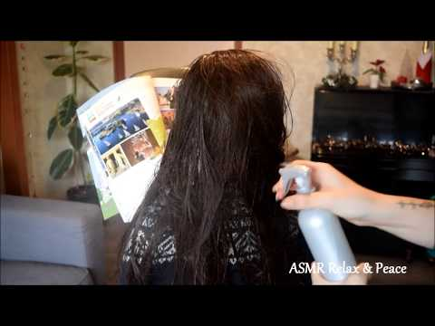 ASMR * Hair Brushing/Spraying/Blowing dry & Styling (On my DOLL) * ASMR Relax & Peace
