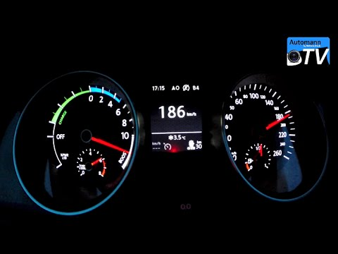 2015 VW Golf 7 GTE (204hp) - 0-200 km/h acceleration (1080p)