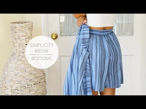 Tutorial for Mimi G Shorts/Pants with Simplicity Pattern 8558