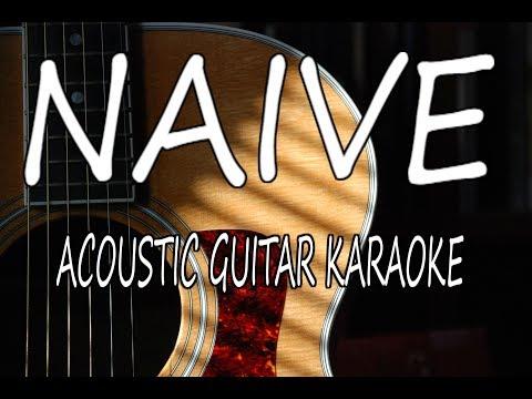 The Kooks - Naive (Acoustic Guitar Karaoke Lyrics on Screen)