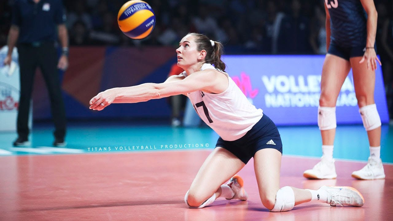 Megan Courtney Amazing Volleyball Libero and Spiker - Best Volleyball Digs Saves 2019