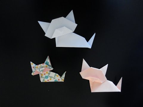 Origami Chat facile -- Easy Cat Origami