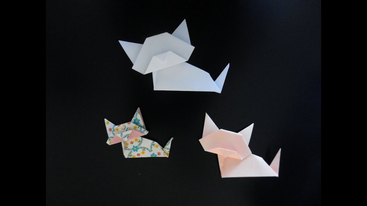 Comment Faire Un Chat En Origami Facile #2: Origami Chat Facile -- Easy Cat Origami