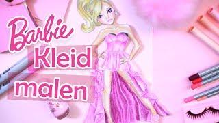 How to draw BARBIE DRESS | Kleid malen von Barbie | Tipps für Anfänger || Foxy Draws