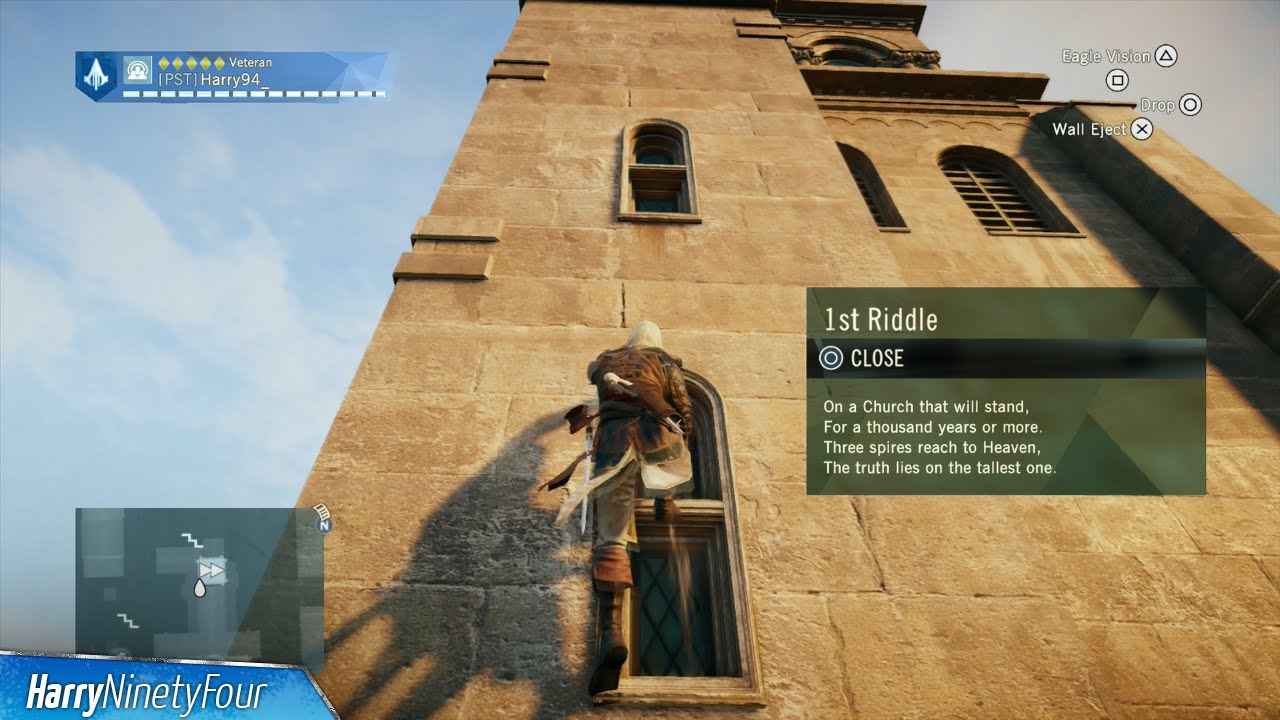 solve the first riddle assassins creed unity