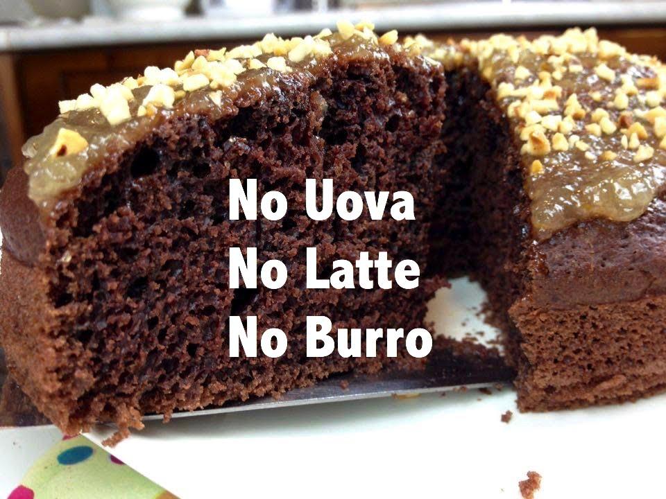 Torta Senza Burro E Uova E Latte.Torta All Acqua Con Cacao Pere E Nocciole Senza Uova Senza Latte Senza Burro