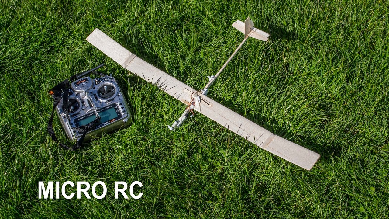 ✅ How to make a micro RC balsa wood airplane / glider