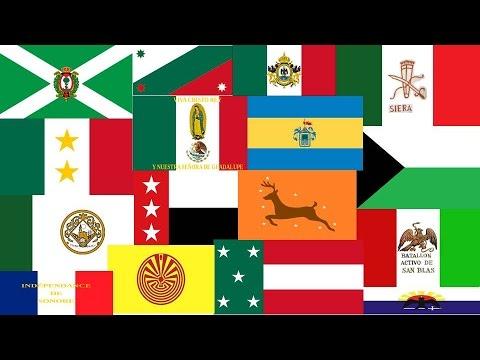 Cuales eran las banderas de mexico