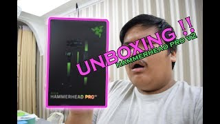 BEST RAZER EARPHONE !! RAZER HAMMERHEAD PRO V2 UNBOXING (NYAH-KOTAK) (MALAYSIA VERSION ) !!!
